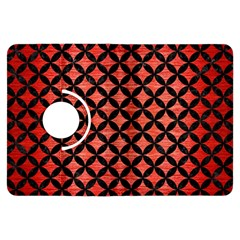 Circles3 Black Marble & Red Brushed Metal Kindle Fire Hdx Flip 360 Case by trendistuff