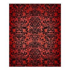 Damask2 Black Marble & Red Brushed Metal Shower Curtain 60  X 72  (medium)  by trendistuff