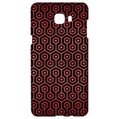 Hexagon1 Black Marble & Red Brushed Metal (r) Samsung C9 Pro Hardshell Case  by trendistuff