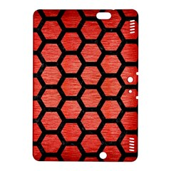 Hexagon2 Black Marble & Red Brushed Metal Kindle Fire Hdx 8 9  Hardshell Case by trendistuff