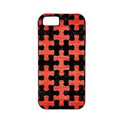 Puzzle1 Black Marble & Red Brushed Metal Apple Iphone 5 Classic Hardshell Case (pc+silicone) by trendistuff