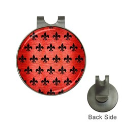 Royal1 Black Marble & Red Brushed Metal (r) Hat Clips With Golf Markers by trendistuff