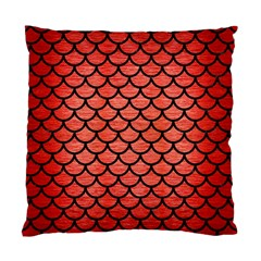 Scales1 Black Marble & Red Brushed Metal Standard Cushion Case (one Side) by trendistuff