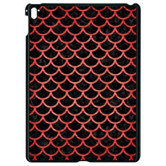 Scales1 Black Marble & Red Brushed Metal (r) Apple Ipad Pro 9 7   Black Seamless Case by trendistuff