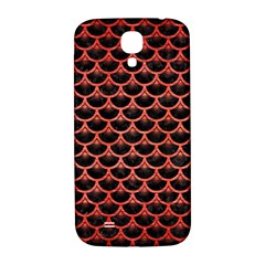 Scales3 Black Marble & Red Brushed Metal (r) Samsung Galaxy S4 I9500/i9505  Hardshell Back Case by trendistuff