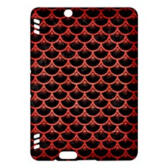 Scales3 Black Marble & Red Brushed Metal (r) Kindle Fire Hdx Hardshell Case by trendistuff