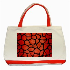 Skin1 Black Marble & Red Brushed Metal (r) Classic Tote Bag (red) by trendistuff