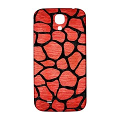 Skin1 Black Marble & Red Brushed Metal (r) Samsung Galaxy S4 I9500/i9505  Hardshell Back Case by trendistuff