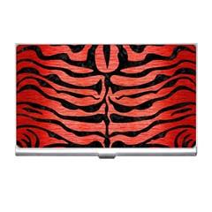Skin2 Black Marble & Red Brushed Metal Business Card Holders by trendistuff