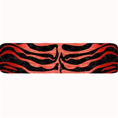 Skin2 Black Marble & Red Brushed Metal (r) Large Bar Mats by trendistuff