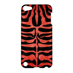 Skin2 Black Marble & Red Brushed Metal (r) Apple Ipod Touch 5 Hardshell Case by trendistuff