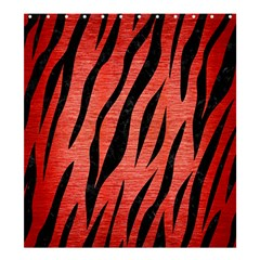 Skin3 Black Marble & Red Brushed Metal Shower Curtain 66  X 72  (large)  by trendistuff
