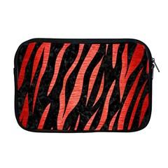 Skin3 Black Marble & Red Brushed Metal (r) Apple Macbook Pro 17  Zipper Case by trendistuff