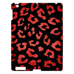 Skin5 Black Marble & Red Brushed Metal Apple Ipad 3/4 Hardshell Case by trendistuff