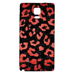 Skin5 Black Marble & Red Brushed Metal Galaxy Note 4 Back Case by trendistuff