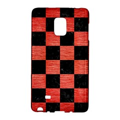 Square1 Black Marble & Red Brushed Metal Galaxy Note Edge by trendistuff