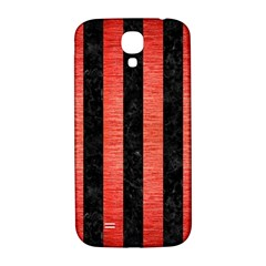Stripes1 Black Marble & Red Brushed Metal Samsung Galaxy S4 I9500/i9505  Hardshell Back Case by trendistuff