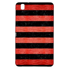 Stripes2 Black Marble & Red Brushed Metal Samsung Galaxy Tab Pro 8 4 Hardshell Case by trendistuff
