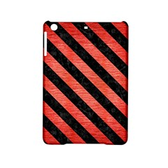Stripes3 Black Marble & Red Brushed Metal Ipad Mini 2 Hardshell Cases by trendistuff