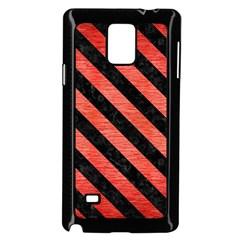 Stripes3 Black Marble & Red Brushed Metal Samsung Galaxy Note 4 Case (black)