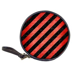 Stripes3 Black Marble & Red Brushed Metal (r) Classic 20 Cd Wallets by trendistuff