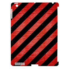 Stripes3 Black Marble & Red Brushed Metal (r) Apple Ipad 3/4 Hardshell Case (compatible With Smart Cover) by trendistuff