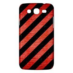 Stripes3 Black Marble & Red Brushed Metal (r) Samsung Galaxy Mega 5 8 I9152 Hardshell Case  by trendistuff
