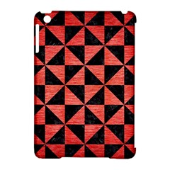 Triangle1 Black Marble & Red Brushed Metal Apple Ipad Mini Hardshell Case (compatible With Smart Cover) by trendistuff