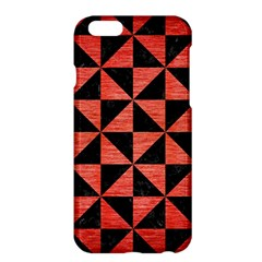Triangle1 Black Marble & Red Brushed Metal Apple Iphone 6 Plus/6s Plus Hardshell Case by trendistuff