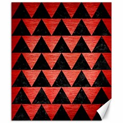 Triangle2 Black Marble & Red Brushed Metal Canvas 20  X 24   by trendistuff