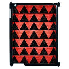 Triangle2 Black Marble & Red Brushed Metal Apple Ipad 2 Case (black) by trendistuff