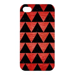 Triangle2 Black Marble & Red Brushed Metal Apple Iphone 4/4s Hardshell Case by trendistuff