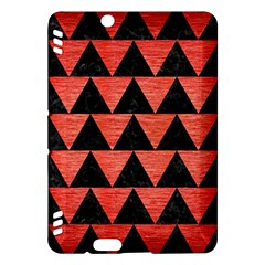 Triangle2 Black Marble & Red Brushed Metal Kindle Fire Hdx Hardshell Case by trendistuff
