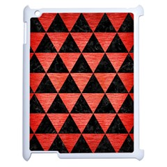 Triangle3 Black Marble & Red Brushed Metal Apple Ipad 2 Case (white) by trendistuff