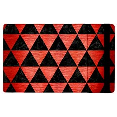 Triangle3 Black Marble & Red Brushed Metal Apple Ipad Pro 12 9   Flip Case by trendistuff