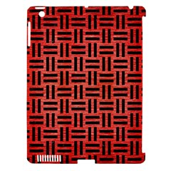 Woven1 Black Marble & Red Brushed Metal Apple Ipad 3/4 Hardshell Case (compatible With Smart Cover) by trendistuff