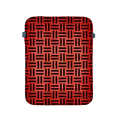 Woven1 Black Marble & Red Brushed Metal Apple Ipad 2/3/4 Protective Soft Cases by trendistuff
