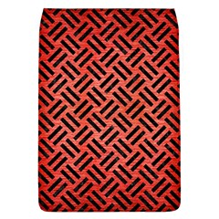 Woven2 Black Marble & Red Brushed Metal Flap Covers (l)  by trendistuff