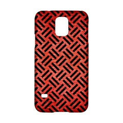Woven2 Black Marble & Red Brushed Metal Samsung Galaxy S5 Hardshell Case  by trendistuff