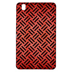 Woven2 Black Marble & Red Brushed Metal Samsung Galaxy Tab Pro 8 4 Hardshell Case by trendistuff