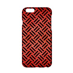 Woven2 Black Marble & Red Brushed Metal Apple Iphone 6/6s Hardshell Case by trendistuff