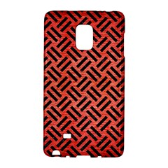 Woven2 Black Marble & Red Brushed Metal Galaxy Note Edge by trendistuff
