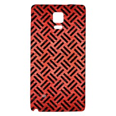 Woven2 Black Marble & Red Brushed Metal Galaxy Note 4 Back Case by trendistuff