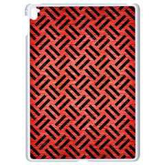 Woven2 Black Marble & Red Brushed Metal Apple Ipad Pro 9 7   White Seamless Case by trendistuff