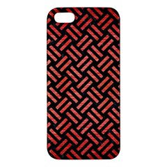 Woven2 Black Marble & Red Brushed Metal (r) Iphone 5s/ Se Premium Hardshell Case by trendistuff