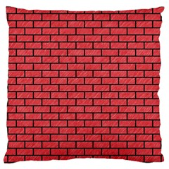 Brick1 Black Marble & Red Colored Pencil Large Cushion Case (one Side) by trendistuff
