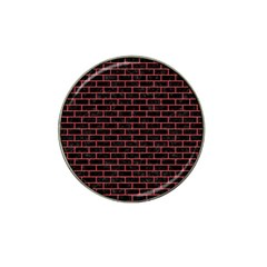 Brick1 Black Marble & Red Colored Pencil (r) Hat Clip Ball Marker by trendistuff