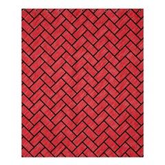Brick2 Black Marble & Red Colored Pencil Shower Curtain 60  X 72  (medium)  by trendistuff