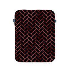 Brick2 Black Marble & Red Colored Pencil (r) Apple Ipad 2/3/4 Protective Soft Cases by trendistuff