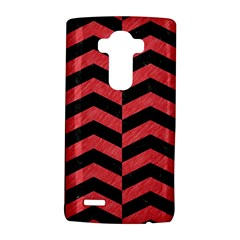 Chevron2 Black Marble & Red Colored Pencil Lg G4 Hardshell Case by trendistuff